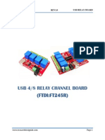 USB 4-8 Channel  Relay Board