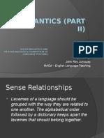 Semantics II