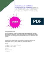 16 Tenses Bahasa Inggris Beserta Rumus Dan Contoh Kalimat