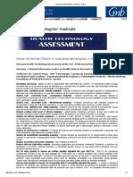 Evaluarea Tehnologiilor Medicale - Glosar