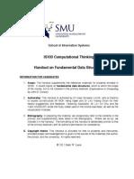 Datastructures Handout