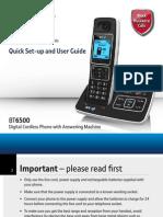 Bt6500 User Guide