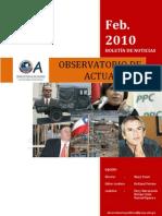 Bol. Men. Feb. 2010. Observatorio de Actualidad_PUCP