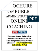 Public Administration for Civil Services Main Examination Online Coaching Brochure Www.upscportal.com