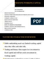 Factors Affecting Working Capital