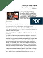 MODARELLI Alejandro 2013_Entrevistado Por Martin Boy y Gisela Cánovas