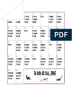 30 Day Fitness Calendar