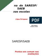 Apresentação Saresp/SAEB 2015 -LP