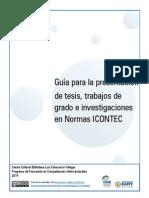 Guia Presentacion Tesis Trabajos de Grado e Investigaciones NormasICONTEC