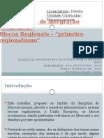 Os espaços de integração económica