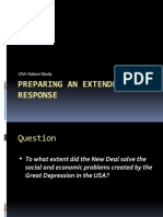 Preparing an Extended Response for the Great Depression