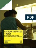 Violencia Sexual Niñas Nicaragua