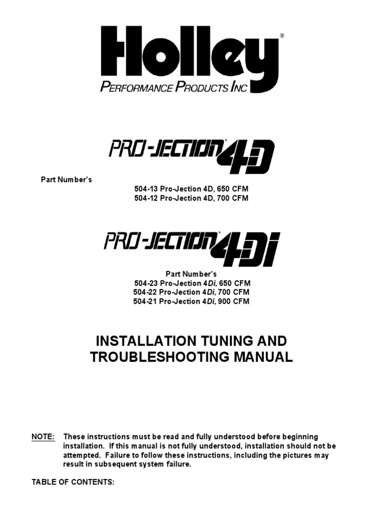 holley pro jection 4d and 4di throttle electrical connector Holley Pro-Jection Kits
