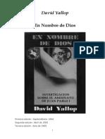 En Nombre de Dios Muerte Juan Pablo i Yallop David
