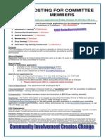 committee posting - deadline oct  23 15