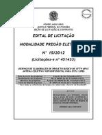Edital CFTV IP e Antena Coletiva JFPB