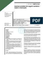 NBR_8160 - Sistema Predial de Esgoto Sanitário