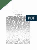 Cicero as a Hellenist - Henry S Scribner