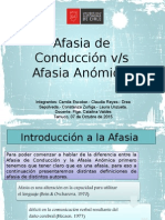 Afasia Conduccion vs Anomica