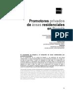 Promotores Privados de Areas Residenciales en Bogota