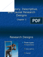 Exploratory Descriptive and Causal Research Designs