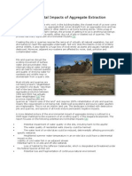 The Environmental Impacts of Aggregate Extraction