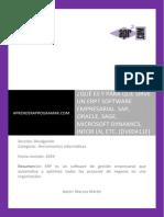 DV00411F Que Es y Para Que Sirve Un ERP Sap Sage Microsoft Dynamics Infor Ln