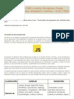 JavaScript en CMS's Joomla, Wordpress, Drupal, Prestashop... Módulos, templates o themes