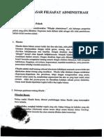 Filsafat Administrasi Konsep Dasar Filsafat Administrasi Revisi