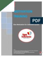 Proposal Training Motivasi Karyawan