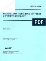 Testing & Modeling of Fresh Conc.