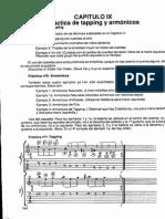 09 Práctica de Tapping y Armónicos - Guitarra Método Analítico - 164 - 167