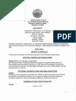 Medford City Council Agenda 10-13-15