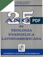 25 años de la teologia evangelica Latinoamericana