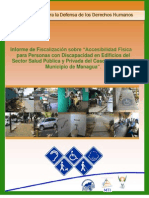 """Informe de Fiscalización sobre """"Accesibilidad Física para Personas con Discapacidad en Edificios del Sector Salud Pública y Privada del Casco Urbano del Municipio de Managua"""