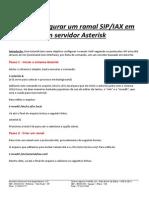 Como Configurar Um Ramal Sip e Iax Em Um Servidor Asterisk