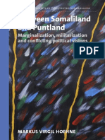 Between Somaliland and Puntland by Markus Hoehne - RVI Contested Borderlands (2015)
