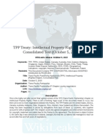 WikiLeaks TPP Intellectual Property Rights Chapter