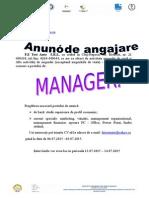 Anunt Angajare Grupa 10 Test Auto Srl-MANAGER