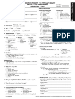 Documentation Template for Physical Therapist Out Patient Form