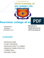ppt on summer training in shree cement ltd.