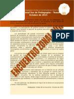 Informe Encuentro Zonal Sur