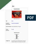 Transformador Eléctrico y Regulador de Tensión.