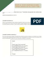 Archivos de extensión js