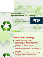 Development and Implementation of Training