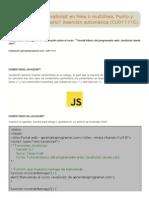 Comentarios JavaScript en línea o multilínea