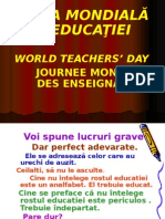 0 Ziua Mondiala a Educatiei