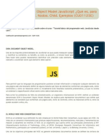 DOM o Document Object Model JavaScript ¿Qué es, para qué sirve. W3C. Nodos. Child