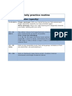 daily practice routine