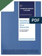 Maestría en Administración de La Educación Junio